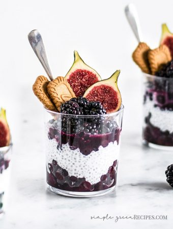 Vegan Blueberry Coconut Creamy Chia Pudding