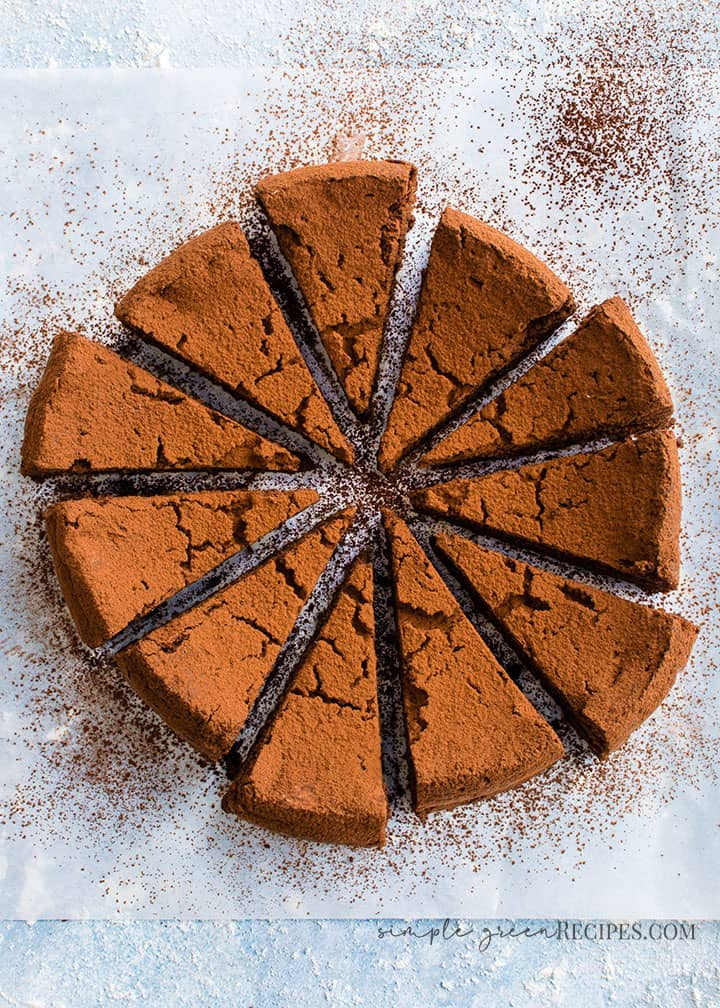 Dairy-free, Vegan and Gluten-free Flourless Chocolate Cake