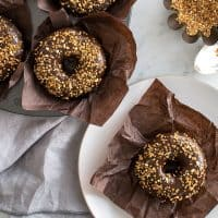 Gluten-Free Chocolate Frosted Donuts
