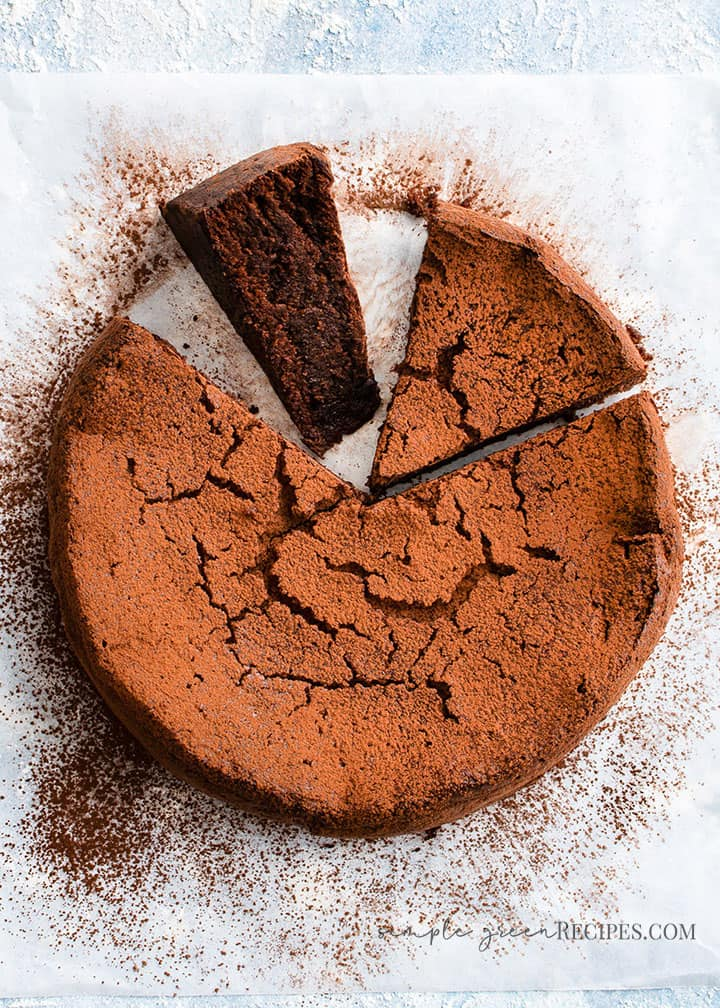 Vegan Gluten-free Flourless Chocolate Fudge Cake