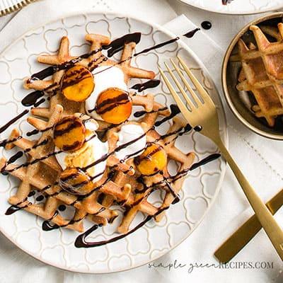 Gluten-free Vegan Buckwheat Waffles