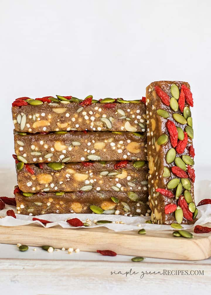 No Bake Seedy Protein Bars
