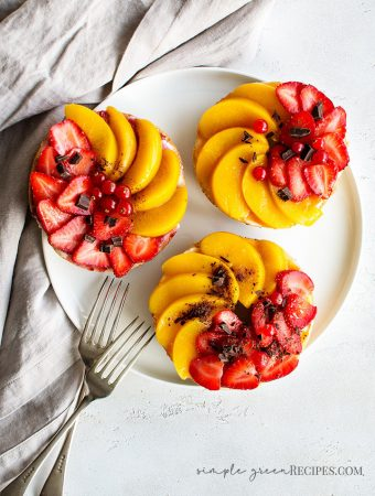 Vegan Bagels topped with Creme Cheese, Strawberries and Preserved Peach.jpg