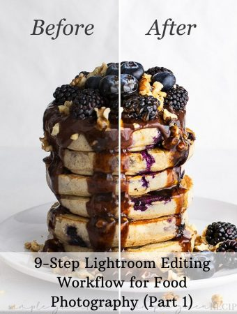 9-step quick editing process for food photography with lightroom