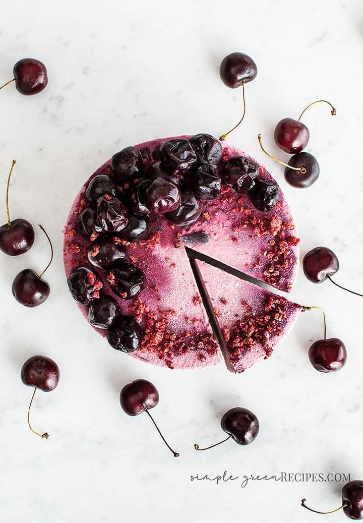 Raw Vegan Cherry Frozen Tart