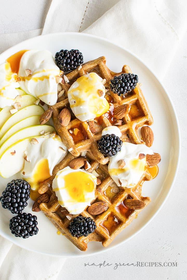Sugar-free Vegan Gluten-Free Waffles