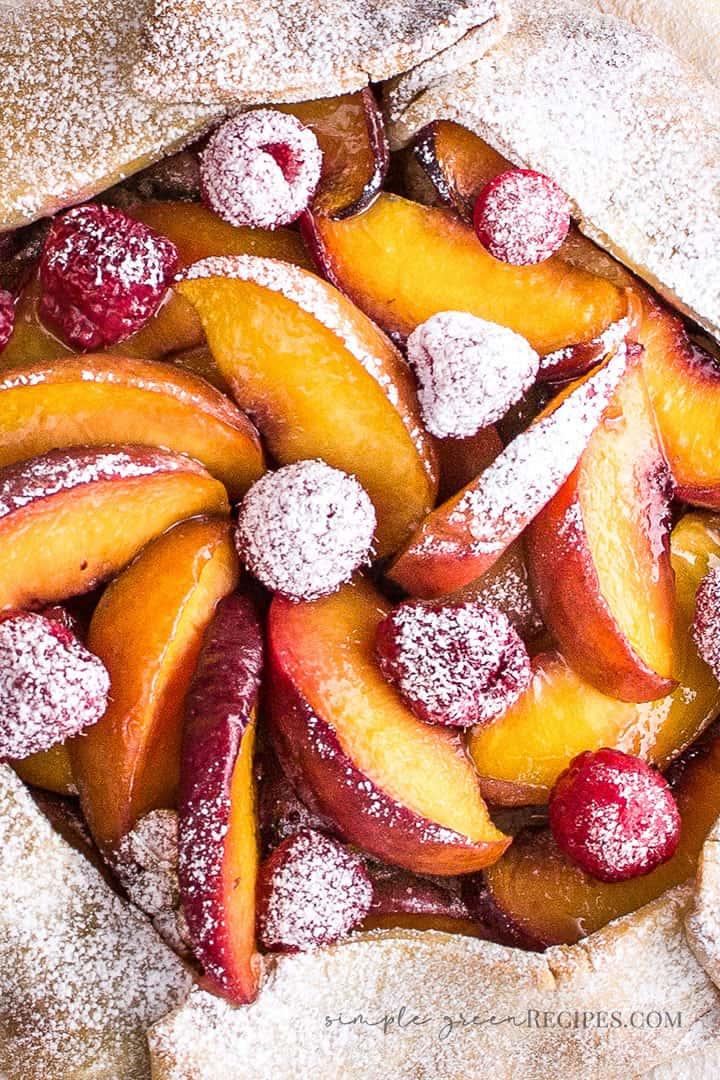 Easy Peach Raspberry Galette