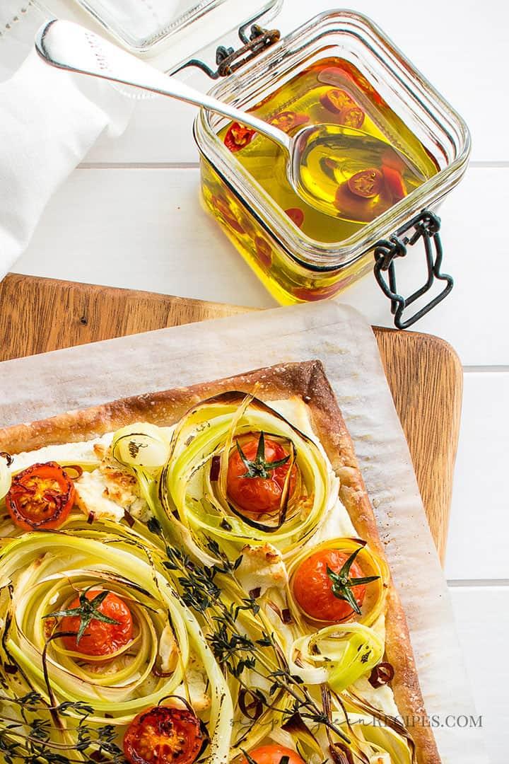 Easy Tomato Leek Tart