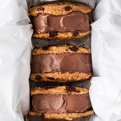 Healthy Vegan Chocolate Ice Cream Sandwiches