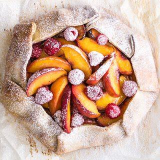 Peach Raspberry Galette Gluten-free