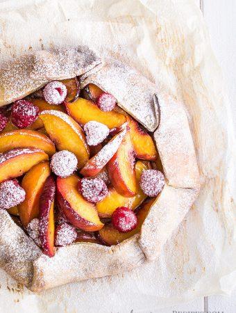 Peach Raspberry Galette (Vegan & Gluten-free)FI
