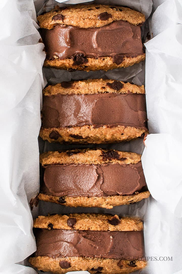 Dairy-free Vegan Chocolate Ice Cream Sandwiches