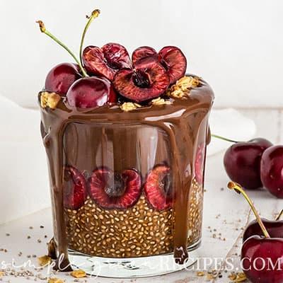 Easy Chocolate chia pudding with vegan icecream
