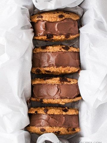 Easy Vegan Chocolate Ice Cream Sandwiches