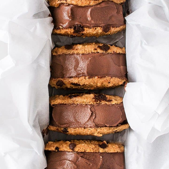 Easy Vegan Chocolate Ice Cream Sandwiches