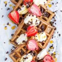 5-Ingredient Vegan Gluten-Free Waffles