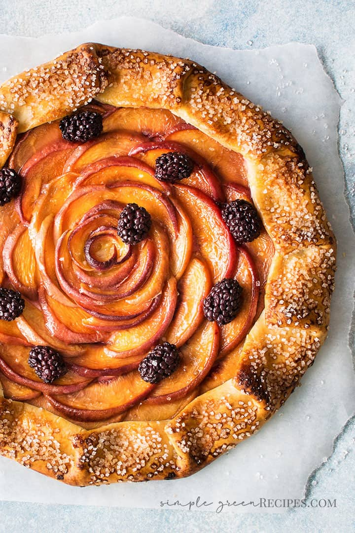 Vegan Peach Galette Recipe