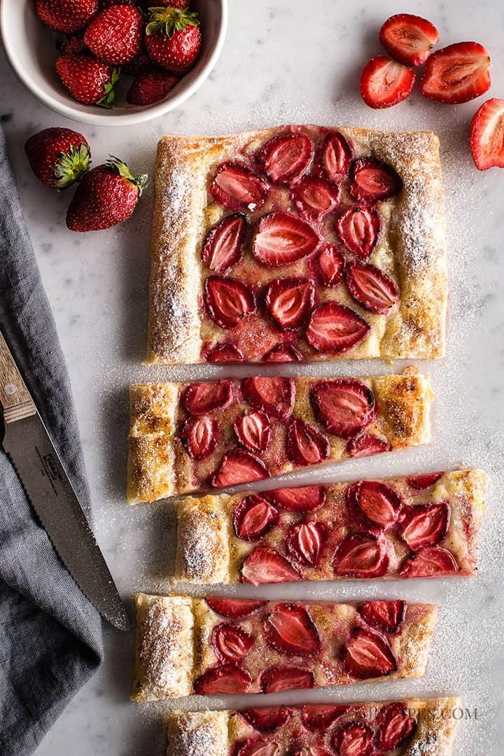 Vegan Strawberry Almond Cream Tart