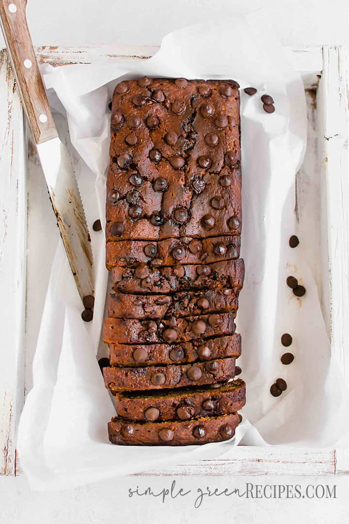 Gluten-free Pumpkin Chocolate Chip Bread