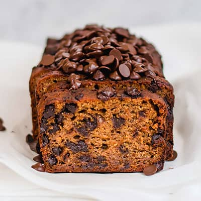 Vegan & Gluten-free Pumpkin Chocolate Chip Bread