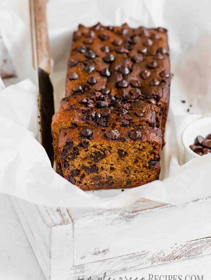 Vegan Pumpkin Chocolate Chip Bread