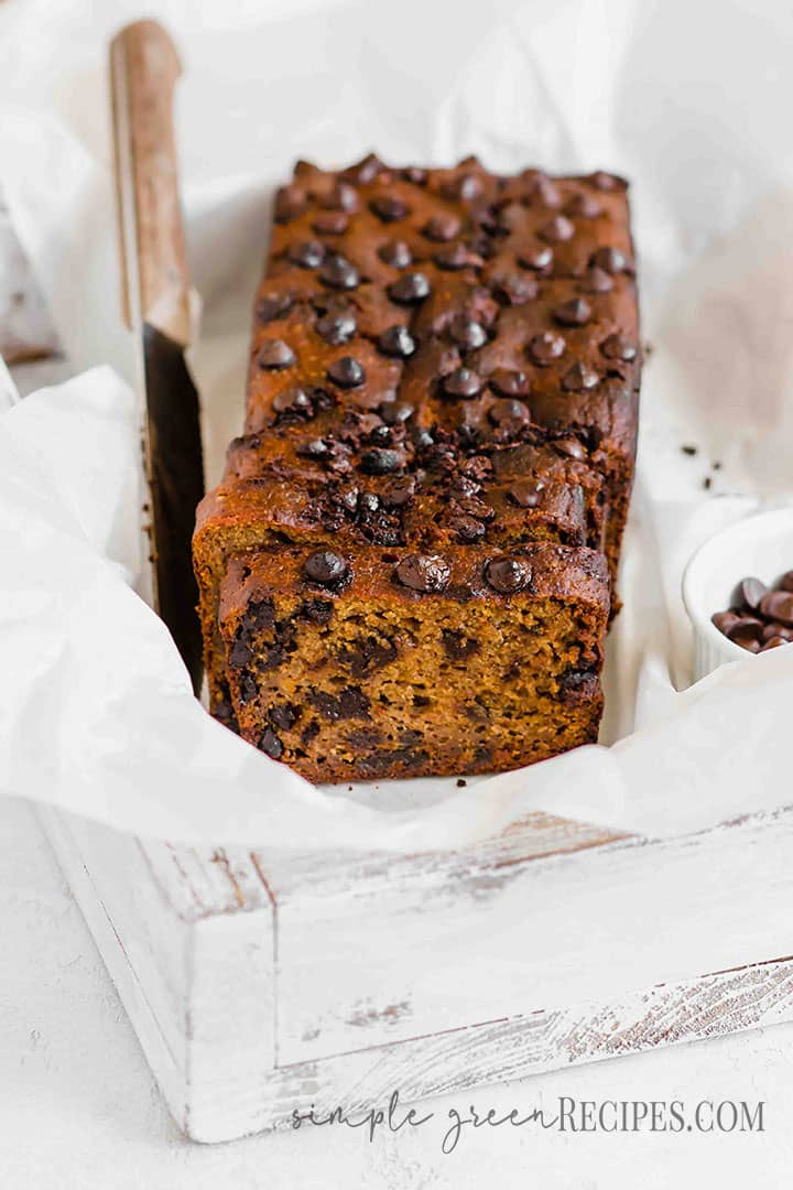 Vegan Pumpkin Chocolate Chip Bread