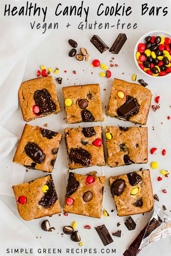 The Best Healthy Candy Cookie Bars