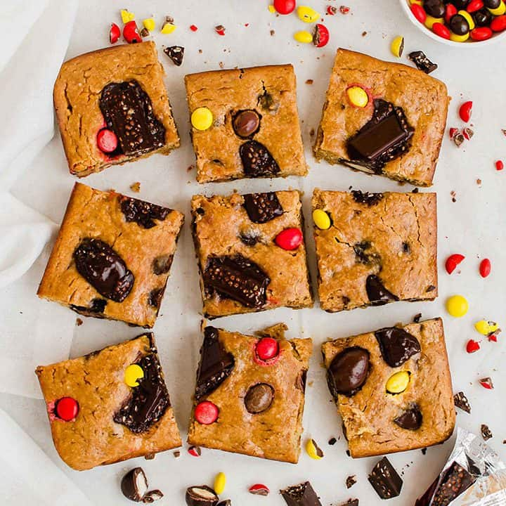 Healthy Candy Cookie Bars