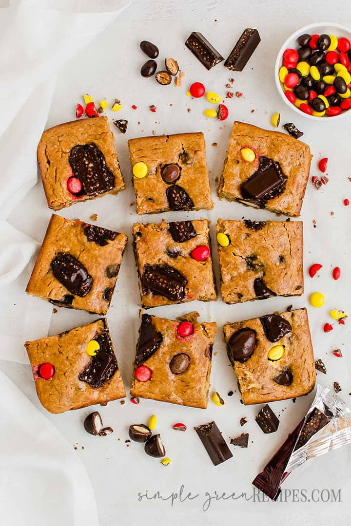Vegan Gluten-free Halloween Candy Cookie Bars