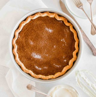 Homemade Vegan Glutenfree Pumpkin Pie