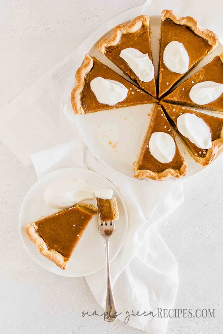Easy Vegan Glutenfree Pumpkin Pie