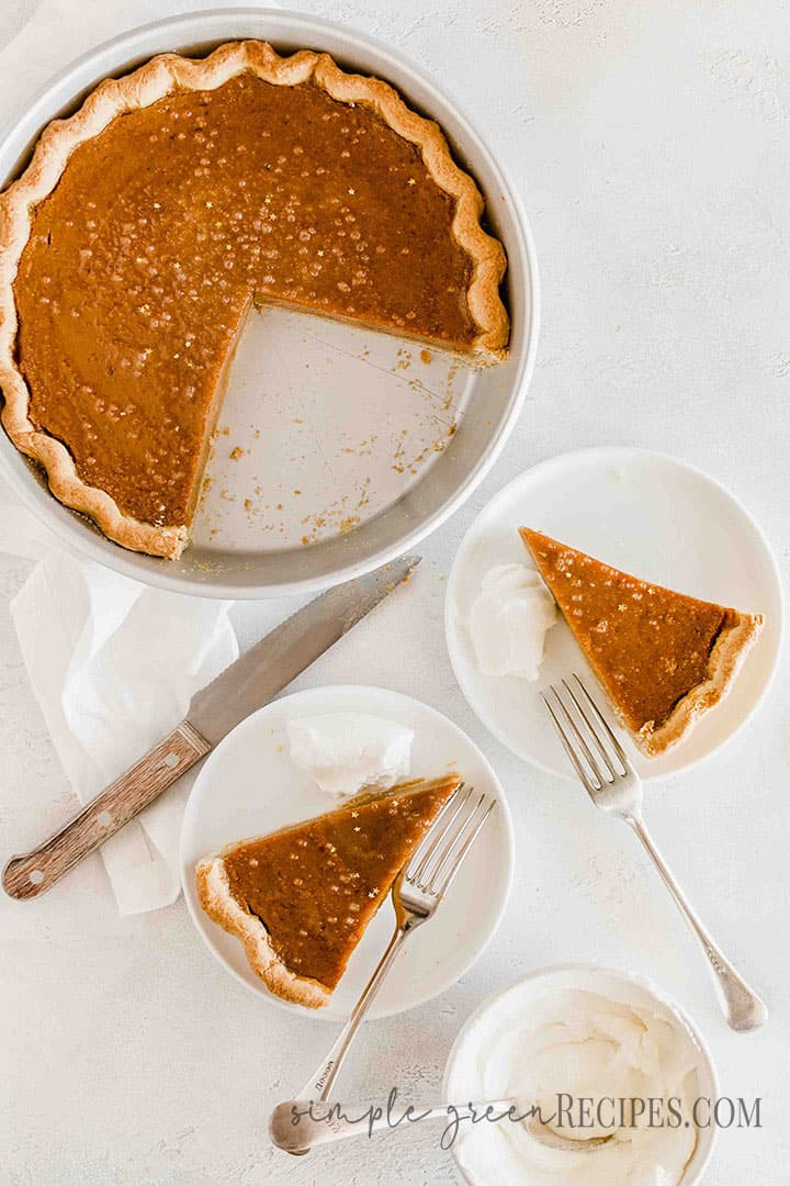 Vegan Glutenfree Pumpkin Pie from scratch