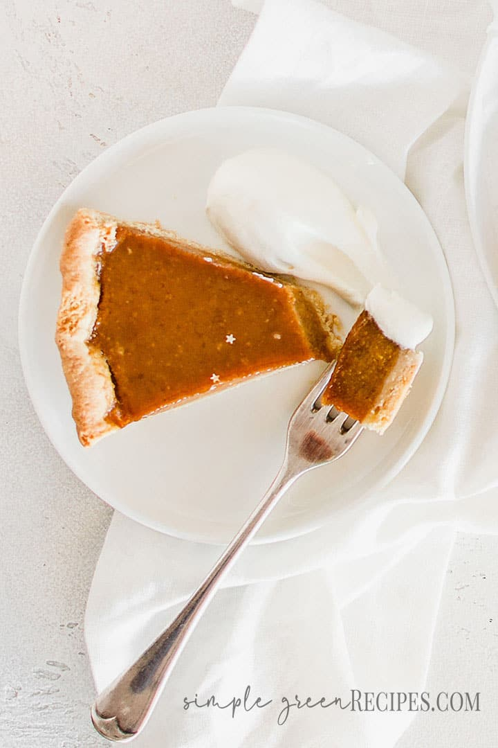 Vegan Glutenfree Pumpkin Pie recipe