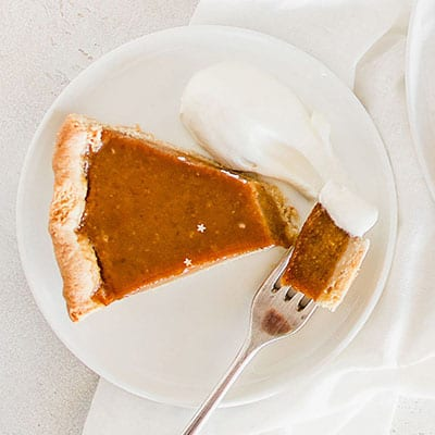 Dairyfree Glutenfree Pumpkin Pie