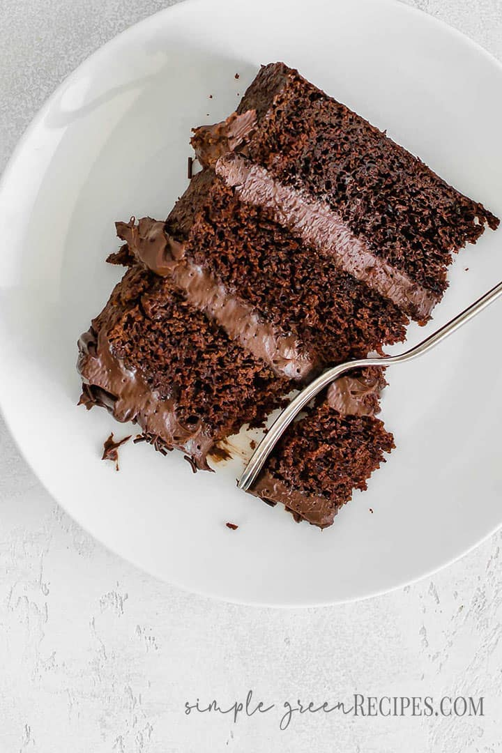 Moist vegan chocolate cake