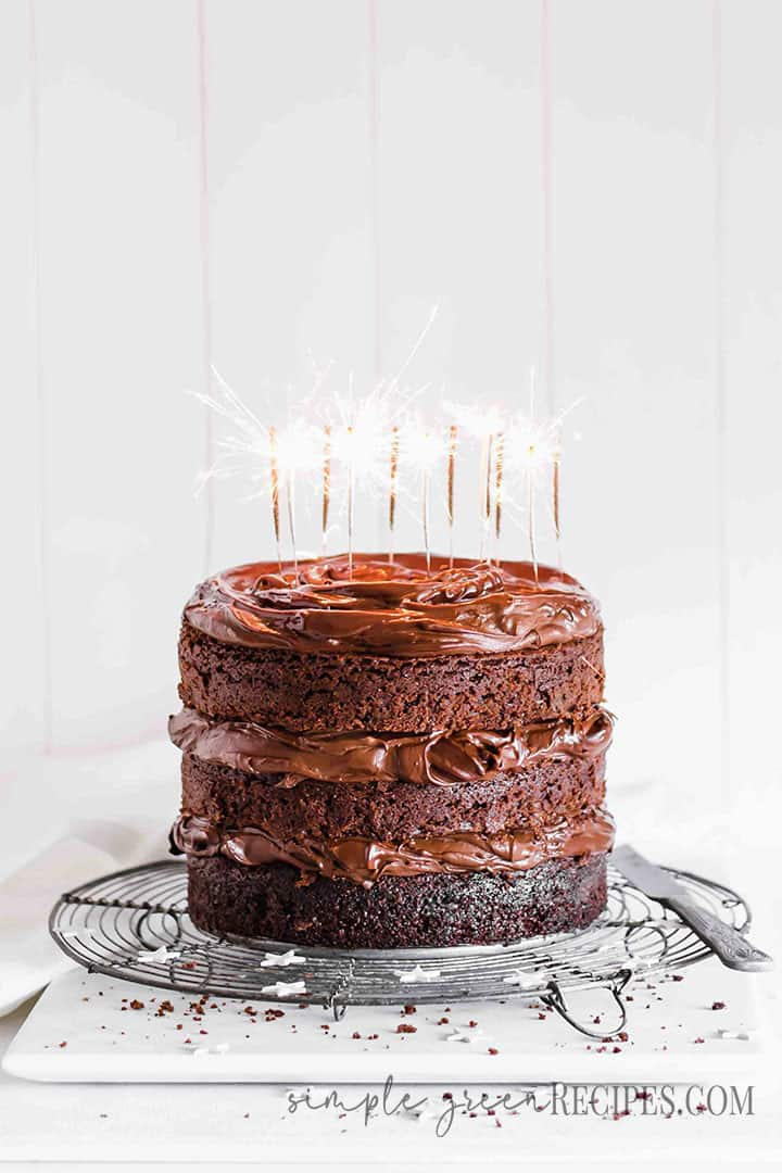 Vegan chocolate cake Food Photography