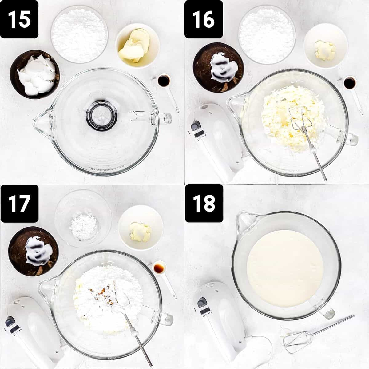 Step-by-step directions to make the frosting